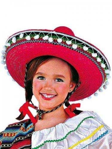 accesorio sombrero mexicano infantil