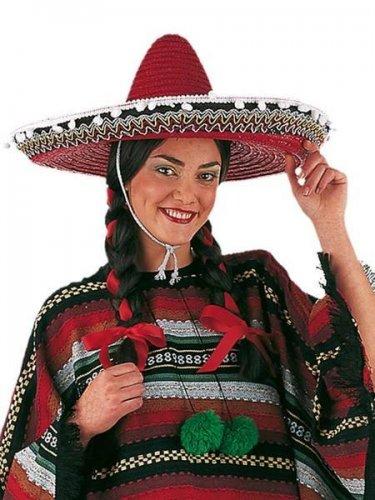 228829bb3ca8b accesorio sombrero mexicano rojo Talla única