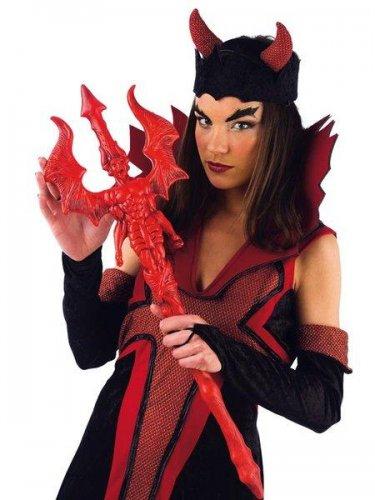 accesorio tridente diablo rojo pequeño