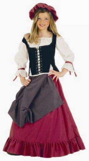 Disfraz de Mesonera medieval infantil deluxe