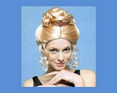 comprar Pvc peluca princesa moño y tiara rubia