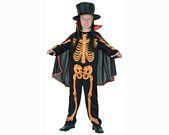 comprar Disfraz de niÑo esqueleto naranja 7-9aÑos