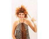 Pvc peluca cavernicola mujer