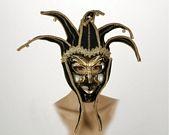 comprar Mascara veneciana arlequin negro
