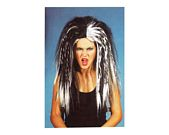 comprar Pvc peluca moderna larga blanca negra