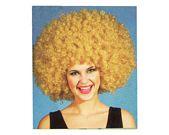 comprar Peluca super afro rubia