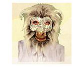 comprar Máscara carnero con pelo