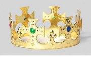 comprar Corona rey Oro 62x15 cm