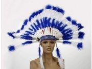 comprar Accarnaval plumas indio azul 40cm