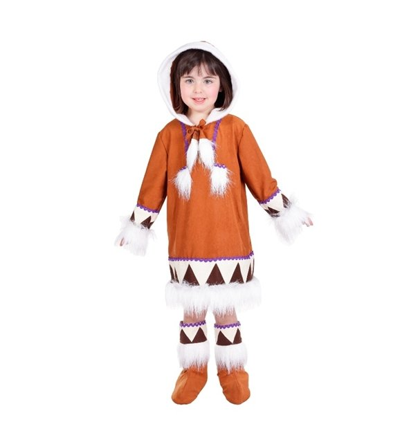 comprar Disfraz de Esquimal infantil para niña 5 a 7 años, talla 2