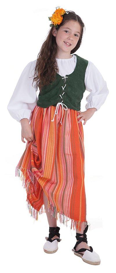 Disfraz de bodeguera talla 2  (5-7 años)