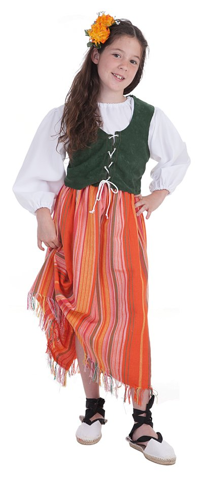 Disfraz de bodeguera talla 3  (7-9 años)