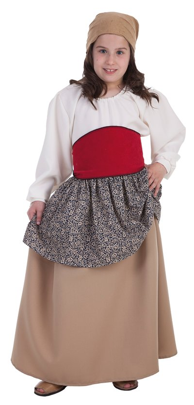 Disfraz de campesina Mari talla 3 (7-9 años)