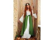 Disfraz de clarisa medieval verde Talla XS
