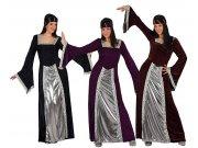 Disfraz de dama medieval , Talla 2 (M-L) t-4, 3st