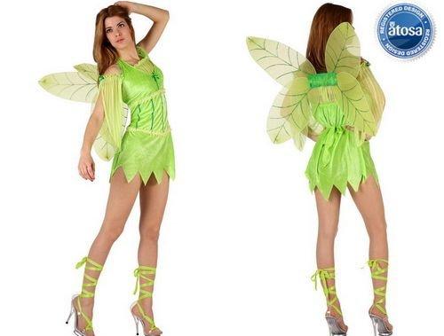 Disfraz de hada verde Talla 2 (M-L)