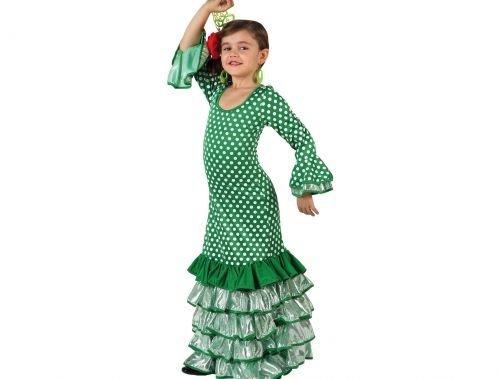 comprar Disfraz de faralae verde lunar blanco niña Talla 2 - 5 - 6 años