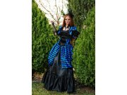 comprar Disfraz de gotica zaccara azul Talla L
