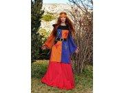 Disfraz de guerrera medieval lys Talla L
