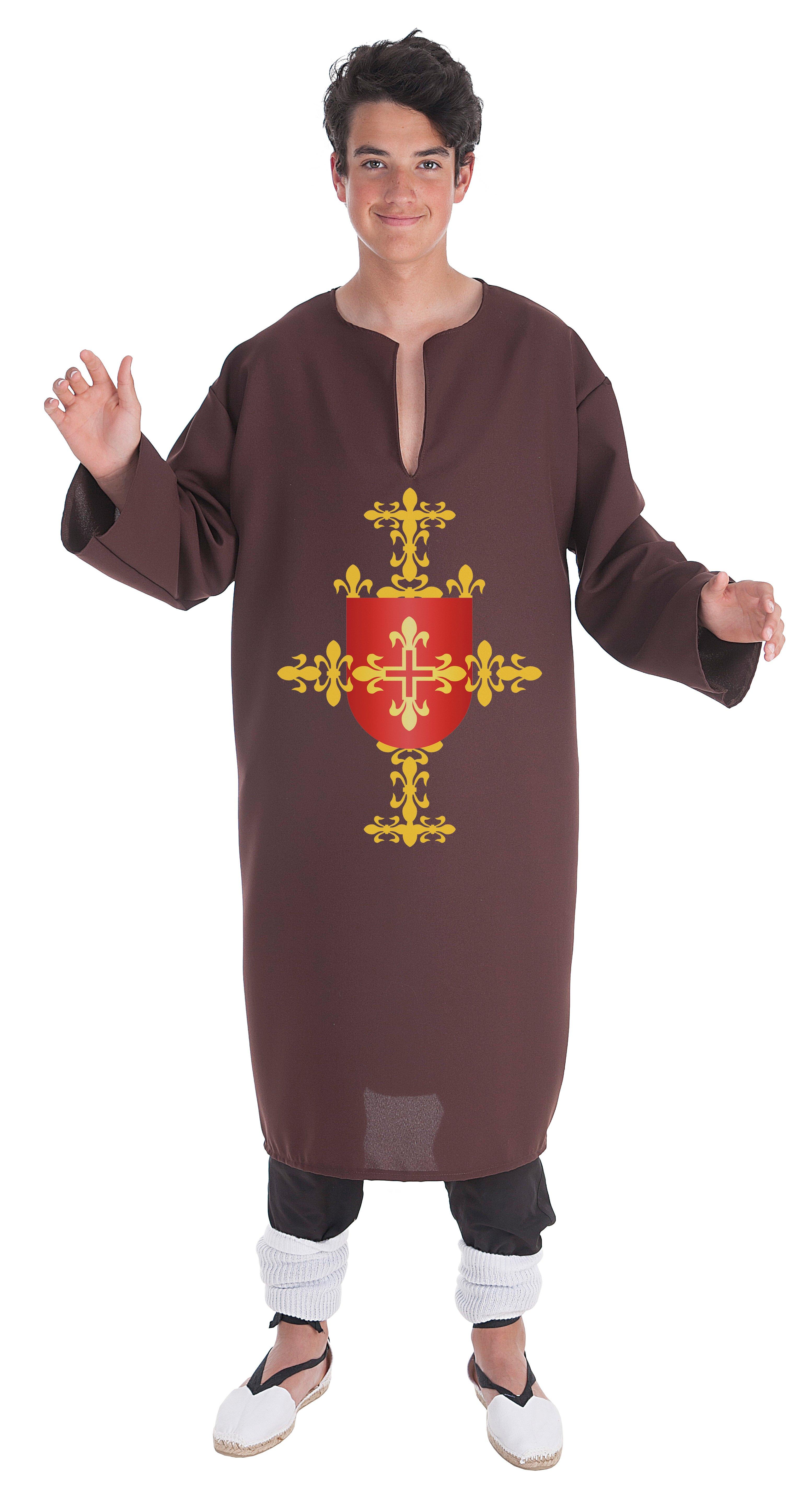 Disfraz de túnica marrón adulto