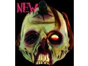 comprar Máscara media cara de zombie verde