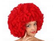 comprar Pvc peluca afro roja 35cms