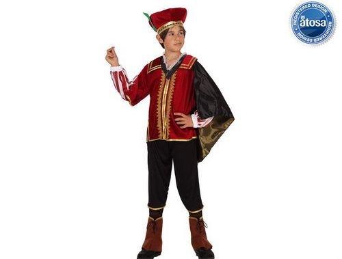 Disfraz de cortesano niño Talla 4 (10 – 12 años)