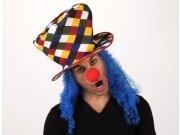 comprar Sombrero copa payaso pelo azul