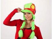 comprar Sombrero payaso trenzas verdes