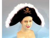 comprar Sombrero pirata plumas y calavera