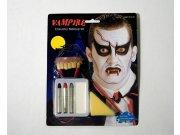 Maquillaje carnaval vampiro colmillo