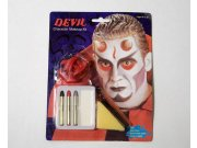 Maquillaje carnaval demonio cuernos