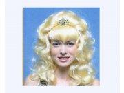 comprar Peluca princesa larga rubia tiara