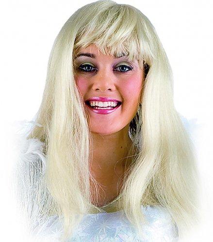 peluca lisa larga c/flequillo Morado