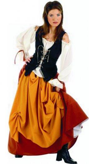 Disfraz de Campesina Medieval deluxe